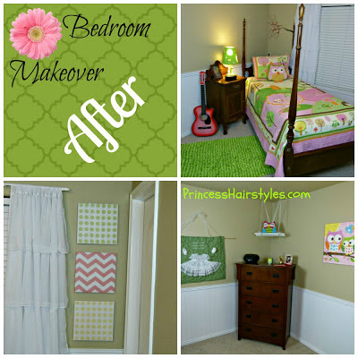 Room tour, girl bedroom makeover, owl theme
