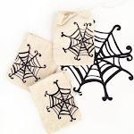 DIY Spider Web Muslin Bags
