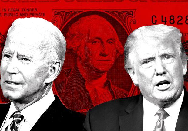 Trump y Biden baja el dólar