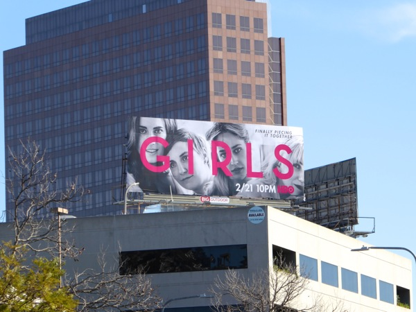 Girls season 5 HBO billboard