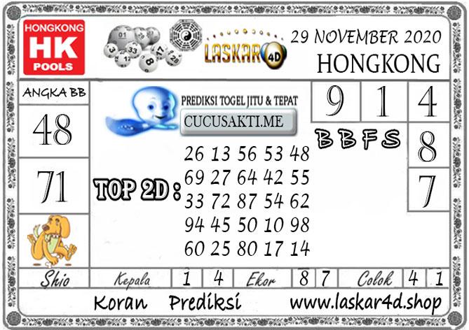 Prediksi Togel HONGKONG LASKAR4D 29 NOVEMBER 2020