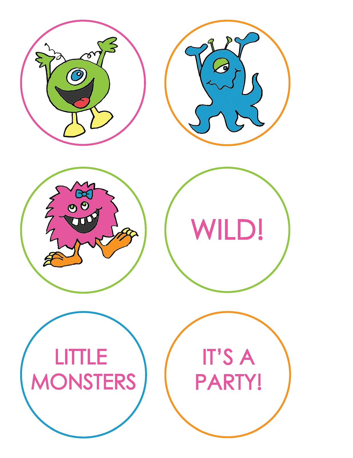 Everyday Art Monster Party Printables