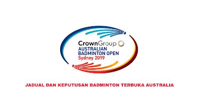 Jadual Badminton Terbuka Australia 2020 (Keputusan)