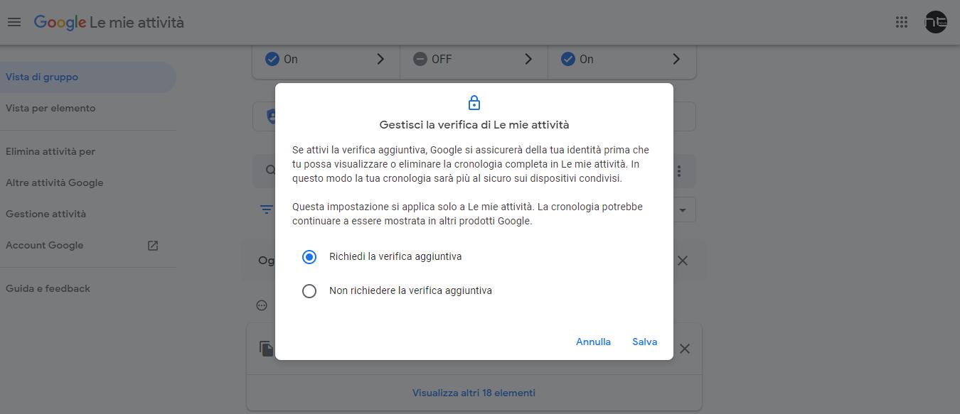 Come proteggere con password la pagina con tutte le proprie ricerche Google