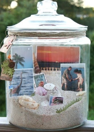 DIY Beach Jars with Sand & Seashells for Lasting Memories.