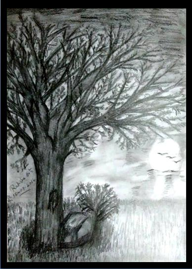 PENCIL DRAWING - SCENERY