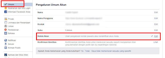 cara menutup akun facebook sementara