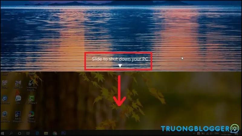 Cách cài đặt tính năng vuốt màn hình để tắt máy tính trên Windows 10