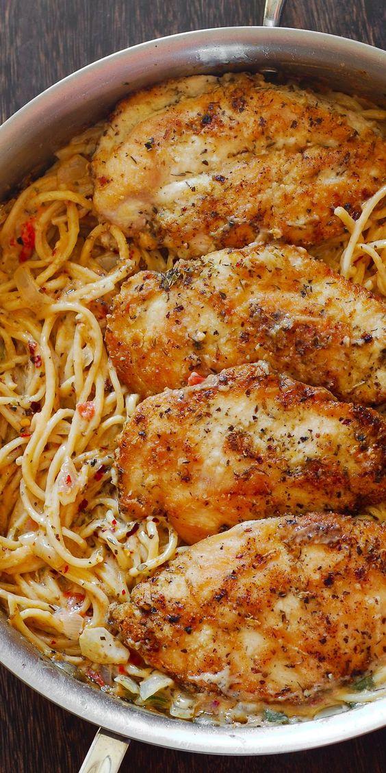 ITALIAN CHICKEN PASTA #recipes #foodandrecipes #food #foodporn #healthy #yummy #instafood #foodie #delicious #dinner #breakfast #dessert #yum #lunch #vegan #cake #eatclean #homemade #diet #healthyfood #cleaneating #foodstagram