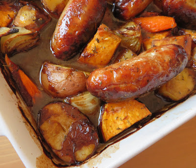 Sausage Vegetable & Gravy Bake
