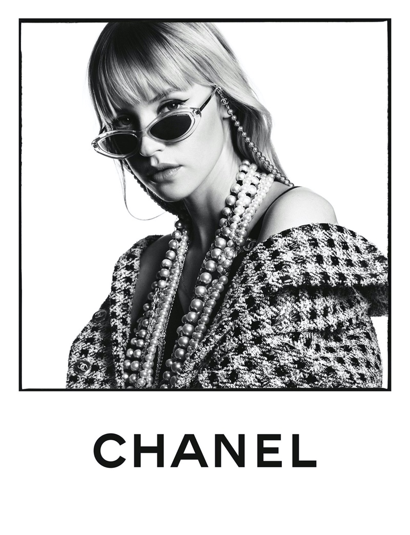 Singer Angèle poses for Chanel Eyewear spring-summer 2020 campaign