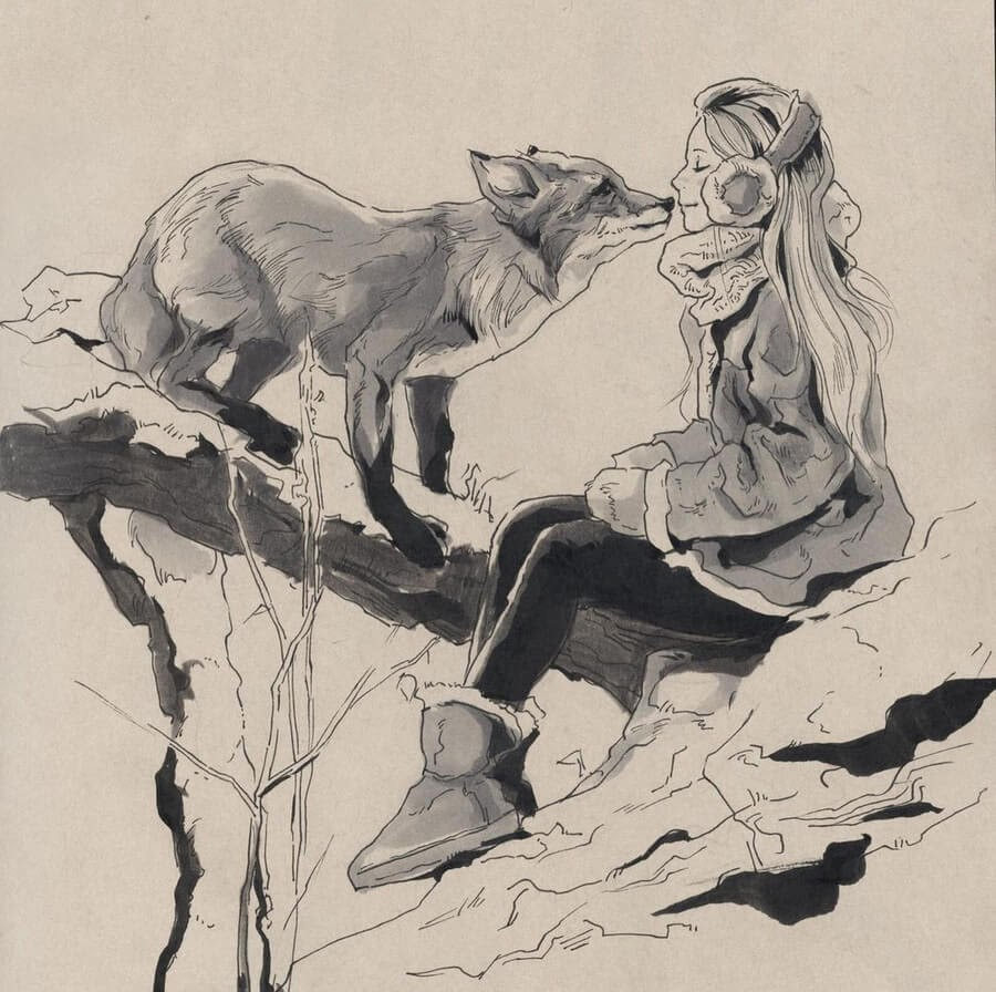 05-The-girl-and-the-fox-Llin-www-designstack-co