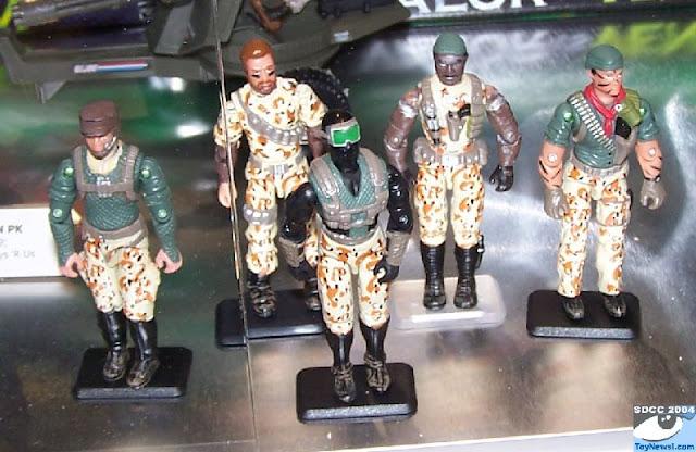Unproduced, Prototypes, 2004 Desert Patrol, Stalker, Ambush, Tunnel Rat, Snake Eyes, Ambush, Dusty, TRU Exclusive