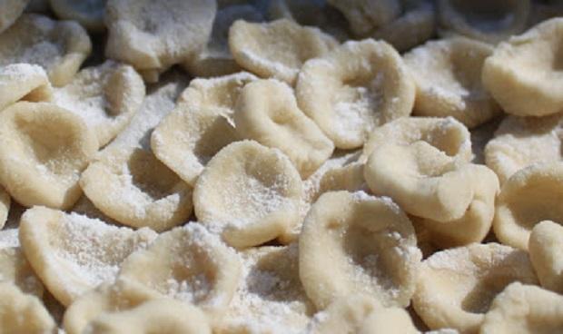 """homemade """"Little Ears"""" Italian pasta drying"""