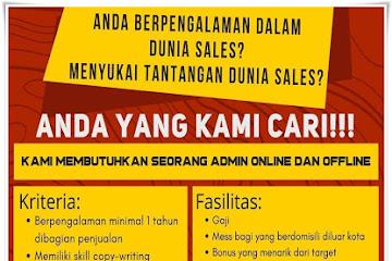 Lowongan Kerja Admin Online & Offline Bandung