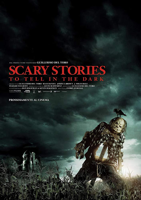 "Movie poster for CBS Films and Lionsgate's 2019 horror film ""Scary Stories to Tell in the Dark,"" starring Zoe Margaret Colletti, Michael Garza, Austin Zajur, Gabriel Rush, Austin Abrams, Dean Norris, and Javier Botet"