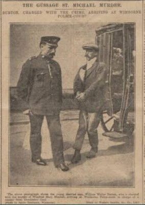 Prison officer with Burton by cart