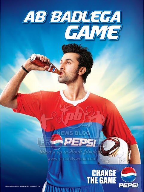 RANBIR KAPOOR IN PEPSI'S GAME CHANGER CAMPAIGN