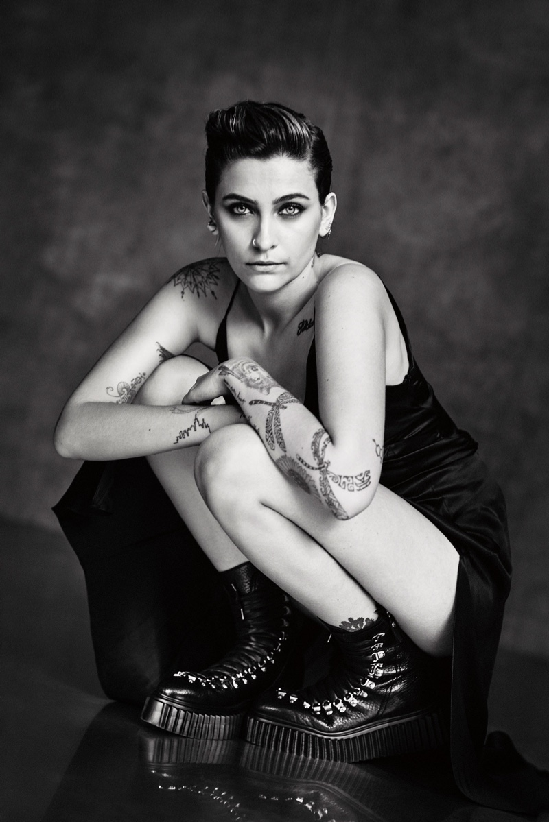 Paris Jackson poses for the AGL Shoes Fall/Winter 2020 Campaign