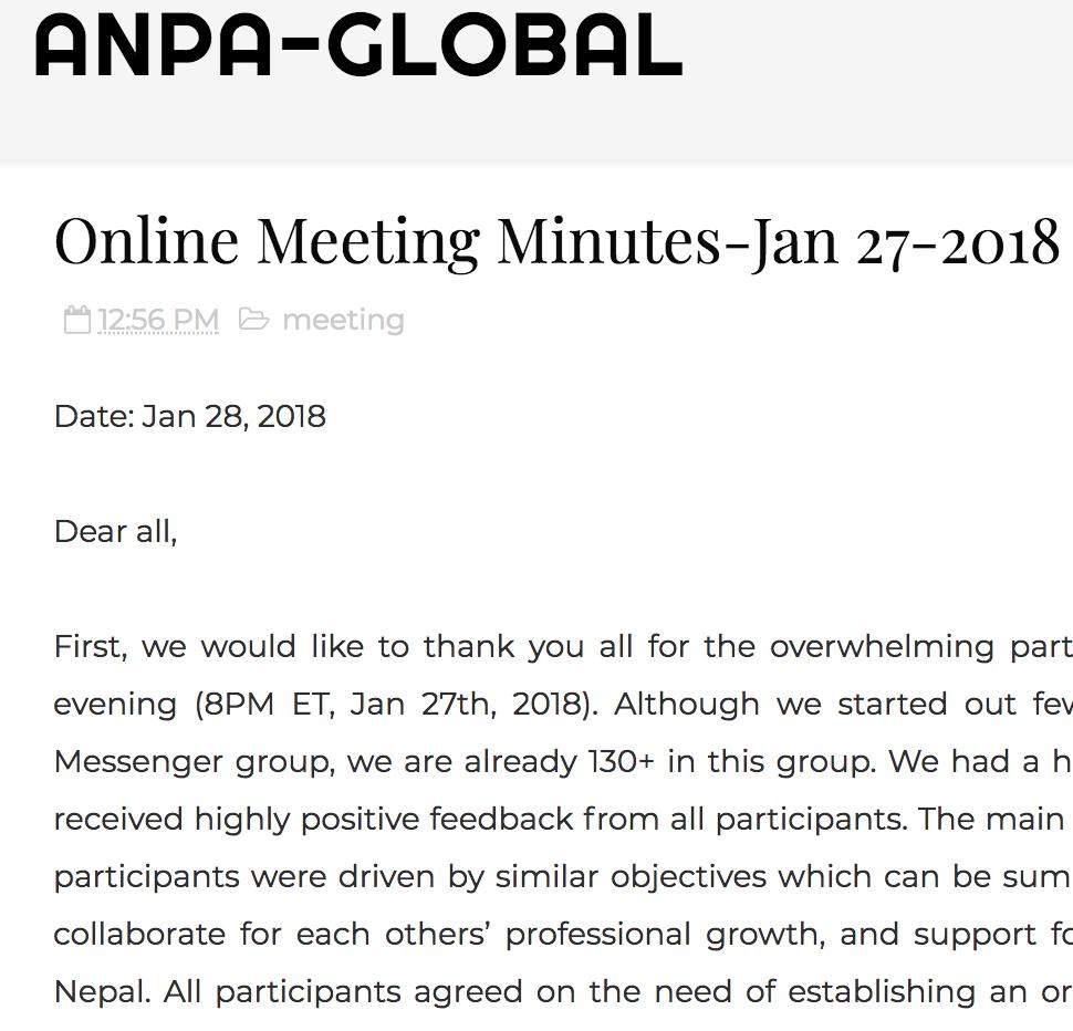 online minutes of meeting