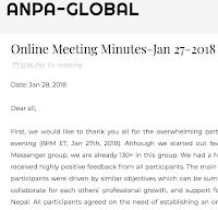 Online Meeting Minutes-Jan 27-2018