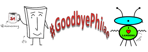 Goodbye Philae! by PiPs, Bernards & by @sciencemug