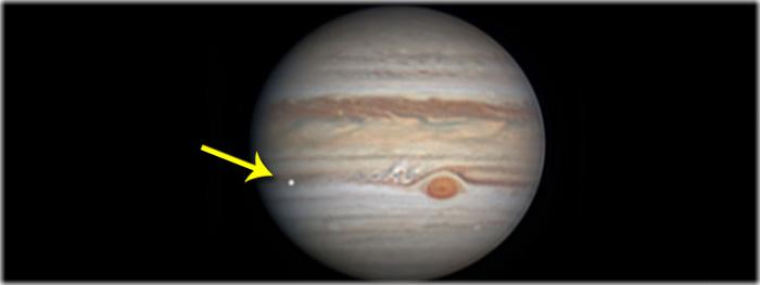 impacto em Júpiter 7 agosto 2019