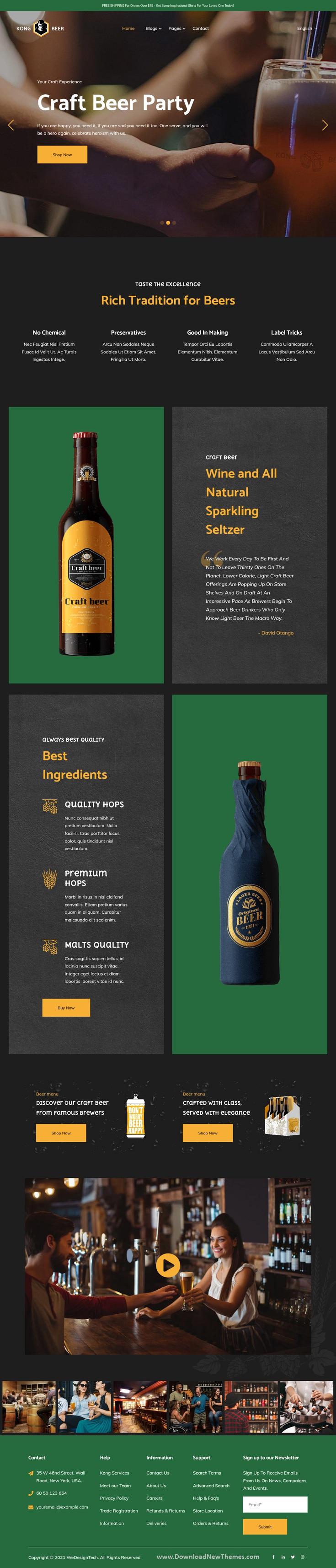 Kong - Beer & Liquor Store HubSpot Theme