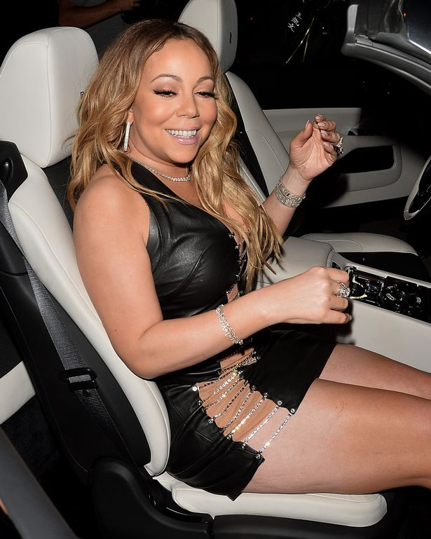 Mariah Carey cuts an exuberant figure