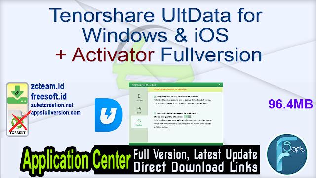 Tenorshare UltData for Windows & iOS + Activator Fullversion