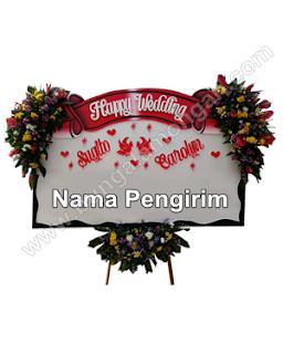 bunga papan pernikahan lamongan1