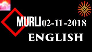 Brahma Kumaris Murli 02 November 2018 (ENGLISH)
