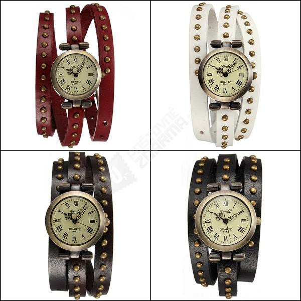 Tajemné parkoviště  Retro hodinky s vícevrstvým páskem 0a00ac4a2d