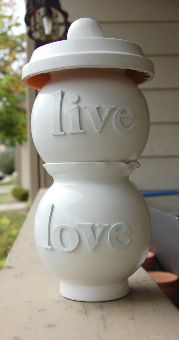 live and love glass jars