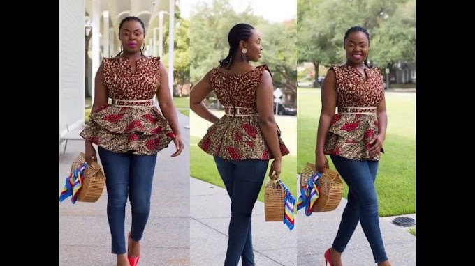 Smart Ways to Combine Ankara Tops With Jeans In 2020