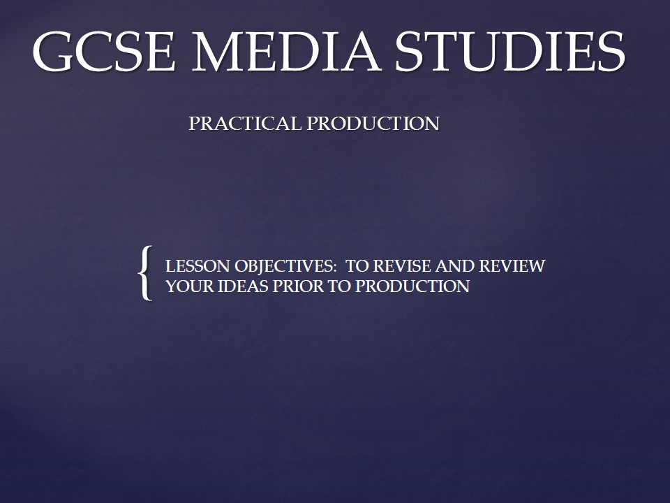 gcse media studies music video coursework Keep up-to-date with the ofqual accredited media studies qualifications available from wjec eduqas gcse music course training courses.