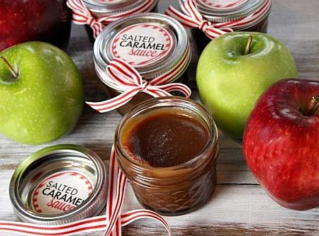 Christmas Gift in a jar - Salted Caramel Sauce