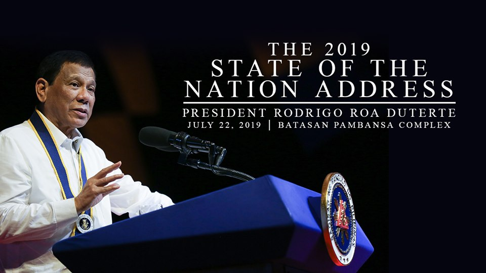 President Rodrigo Duterte delivers his fourth State of the Nation Address (SONA) this Monday, July 22, 2019.