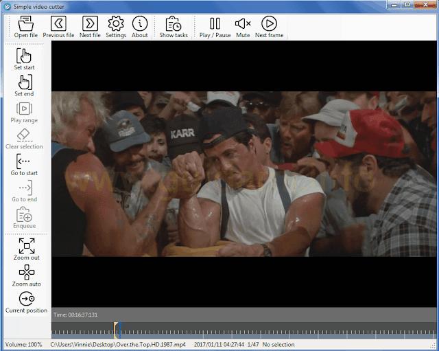 SimpleVideoCutter interfaccia grafica