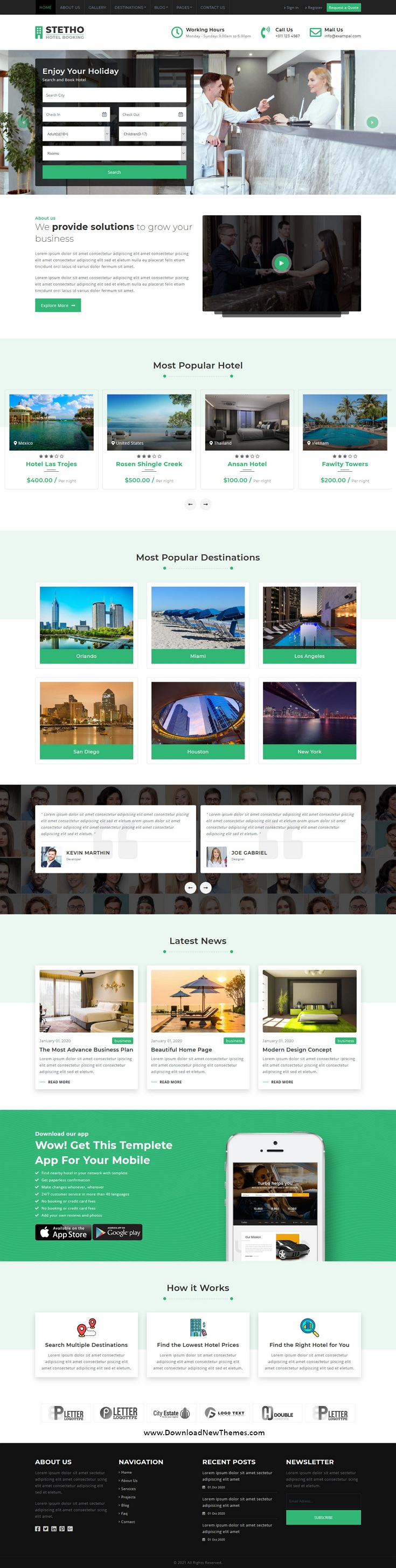 Hotel Booking Multipage HTML5 Template