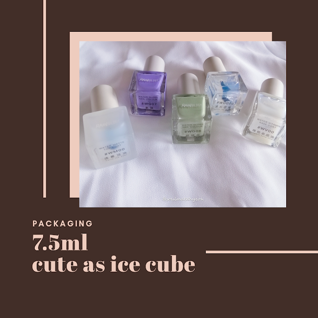 Review; 雨辑 Rainology 小冰块亮光水性指彩 Water Gloss Gelly Nail Colour