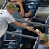 Young Yankees fan gives away foul ball