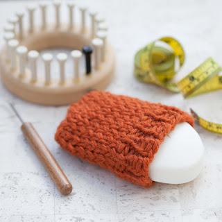 Loom Knit Soap Sack Pattern