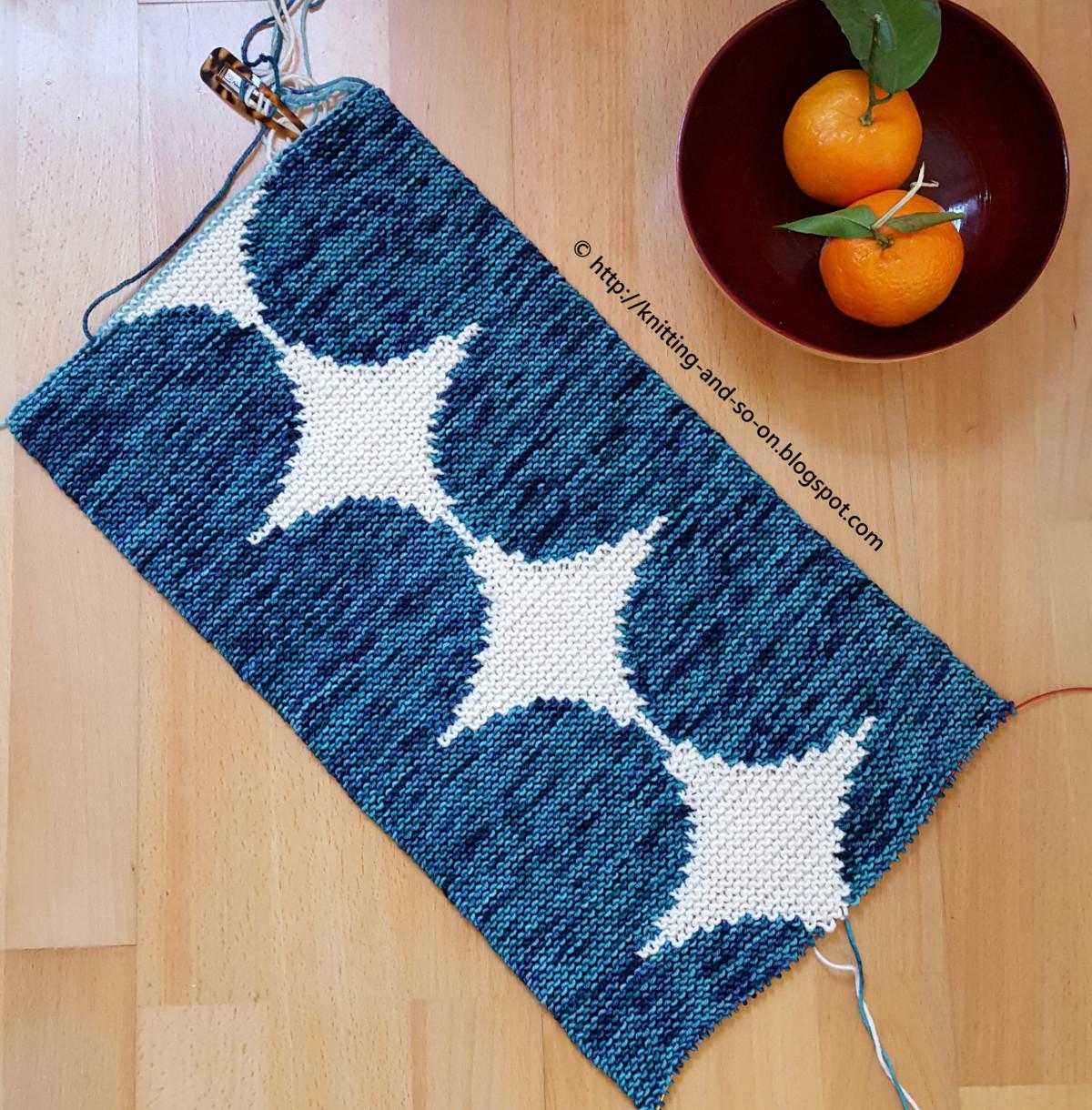Knitting Intarsia : Knitting and so on attempt at intarsia