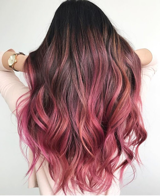 balayage rosado gold