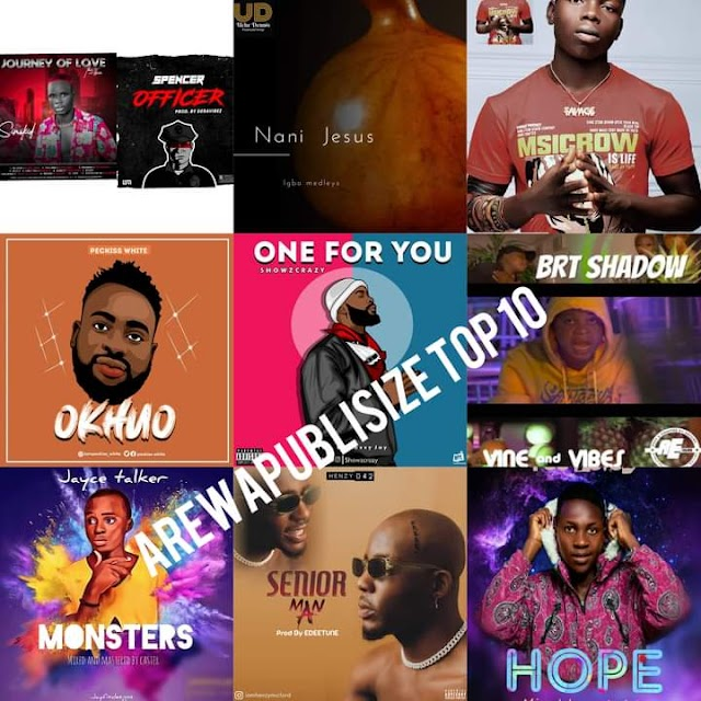 [BangHitz] #Arewapublisize top 10 songs, middle of October 2020 - hosted by Hypeman vizzy
