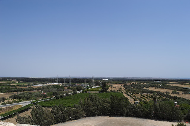 View from the top of the castle in Kolossi, Cyprus.