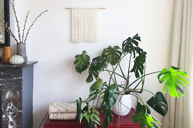easy DIY wall hanging