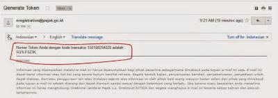 generate token daftar NPWP online