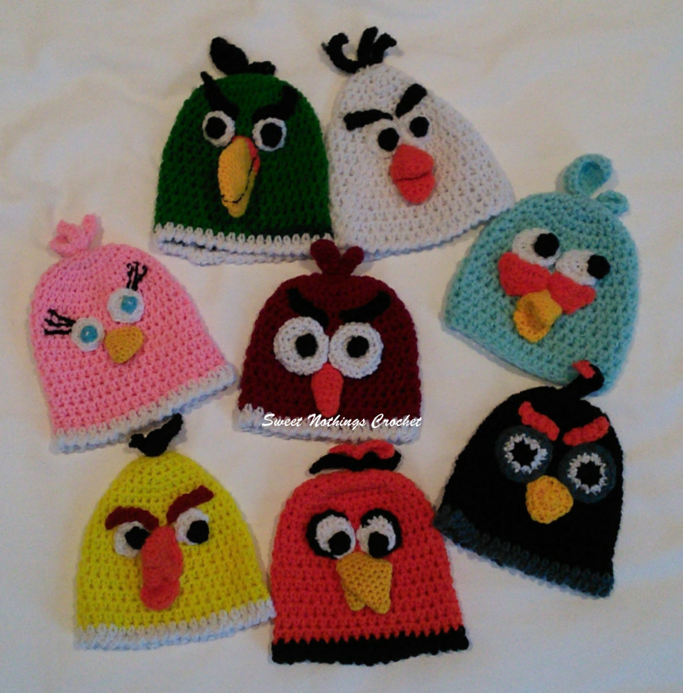 Sweet Nothings Crochet  PREEMIE CAPS 10   CHUCK – Yellow Angry Bird 4a8d47914223